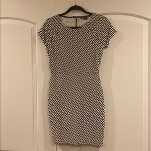 EUC A/X Armani Exchange Striped Bodycon Dress